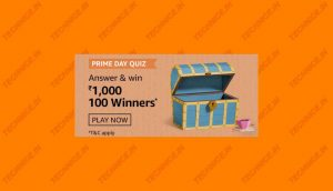 Amazon Prime Day Quiz Answers Win Rs 1000- 100 Winners