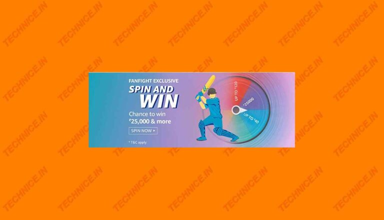Amazon Fanfight Exclusive Spin And Win Answers Win Rs 25000