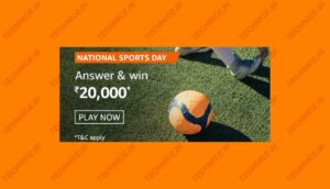 Amazon National Sports Day Quiz Answers Win Rs 20000