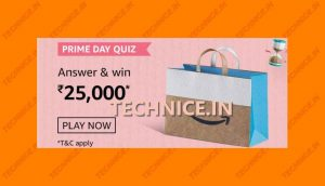 Amazon Prime Day Quiz Answers Win Rs 25000 Amazon Pay