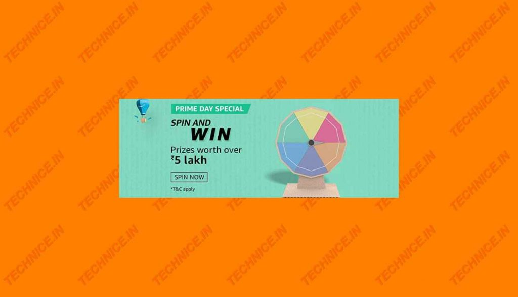 Amazon Prime Day Special Spin And Win Quiz Win Rs 5 Lakh