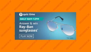 Amazon Ray-Ban Sunglasses Quiz Answers Win Sunglasses Free