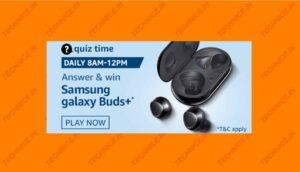 Amazon Samsung Galaxy Buds+ Quiz Answers