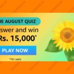 Amazon The August Quiz Answers Win Rs 15000