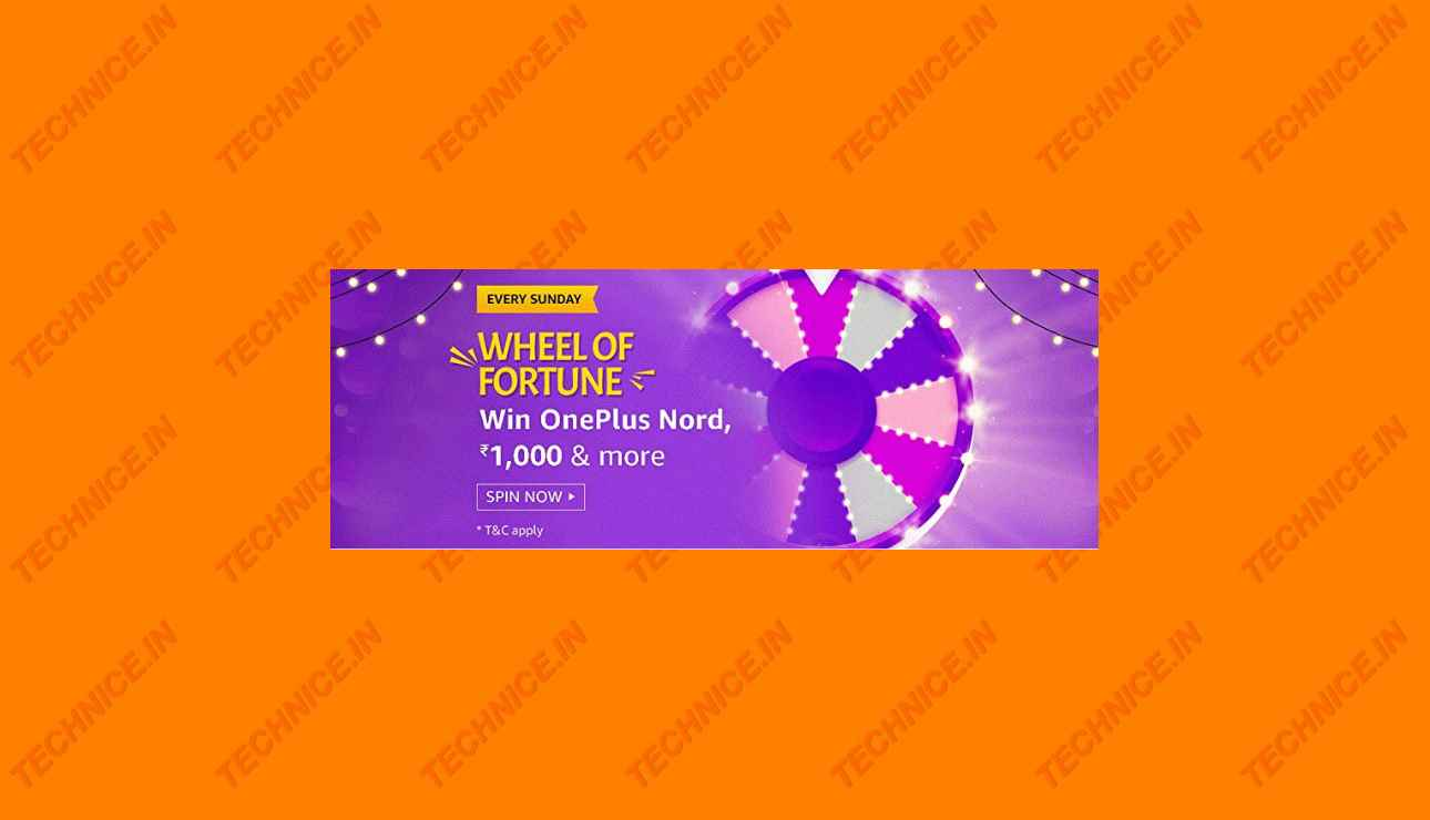 Amazon Wheel Of Fortune Quiz Answers 13 September 2020 Win Oneplus Nord Rs 1000 And More Technice In