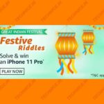 Amazon Festive Riddles Quiz Answers Win iPhone 11 Pro Free Of Cost