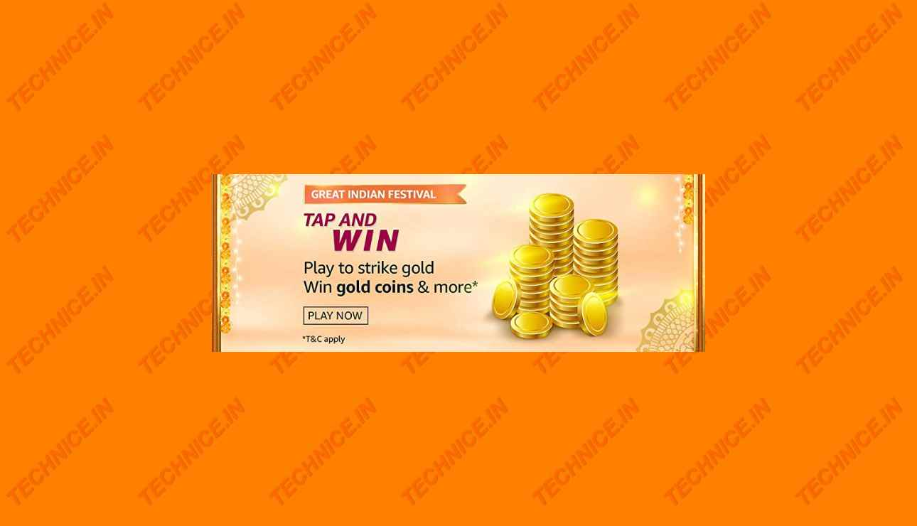 Amazon Great Indian Festival Tap And Win Answers Win Gold Coins