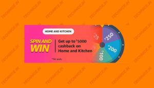 Amazon Home And Kitchen Spin And Win Quiz Answers Win Rs 5000