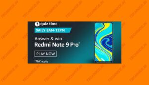 Amazon Redmi Note 9 Pro Quiz Answers Win Redmi Note 9 Phone Free