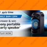 Amazon Sony Portable Party Speaker Quiz Answers