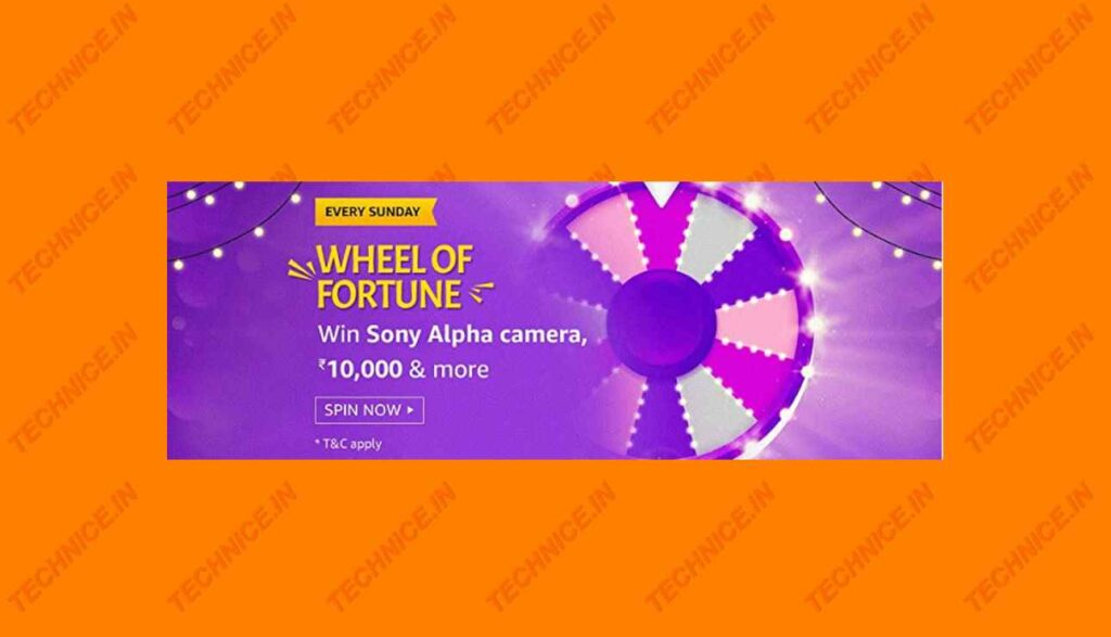 Amazon Wheel Of Fortune Answers Win Sony Alpha Camera, Rs 10000