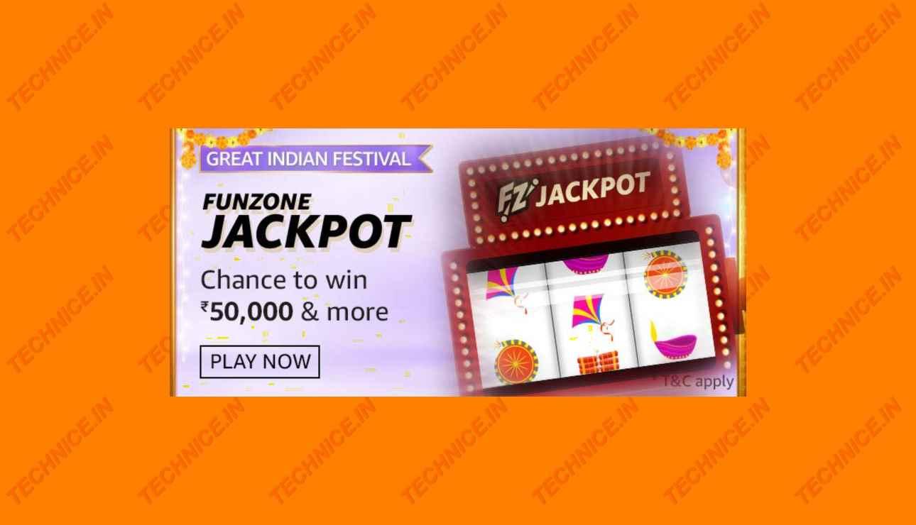 Amazon Funzone Jackpot Quiz Answers Win Rs 50000