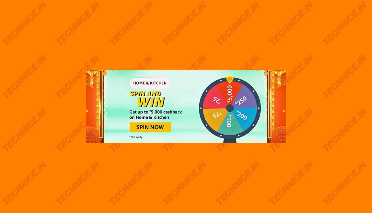 Amazon Home And Kitchen Spin And Win Quiz Answers Win Rs 5000 Cashback