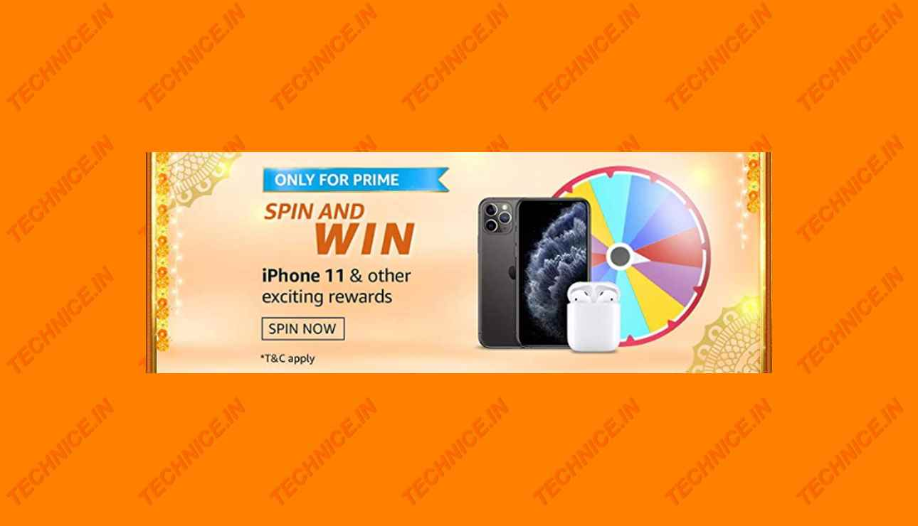 Amazon Only For Prime Spin And Win Quiz Answers Win iPhone 11