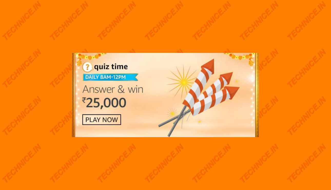 Amazon Rs 25000 Quiz Answers Get Free Rs 25000