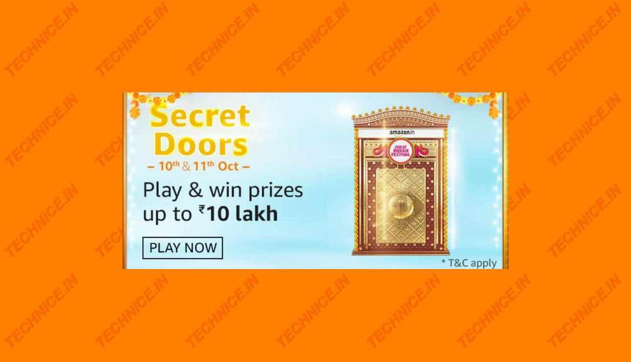 Amazon Secret Doors Quiz Answers Win ₹10 Lakh