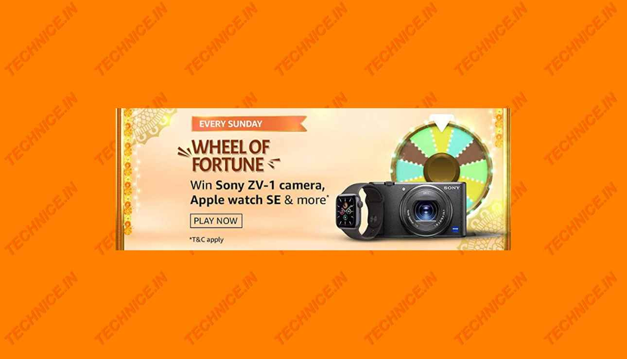 Amazon Wheel Of Fortune Quiz Answers Win Sony ZV-1 Camera, Apple Watch