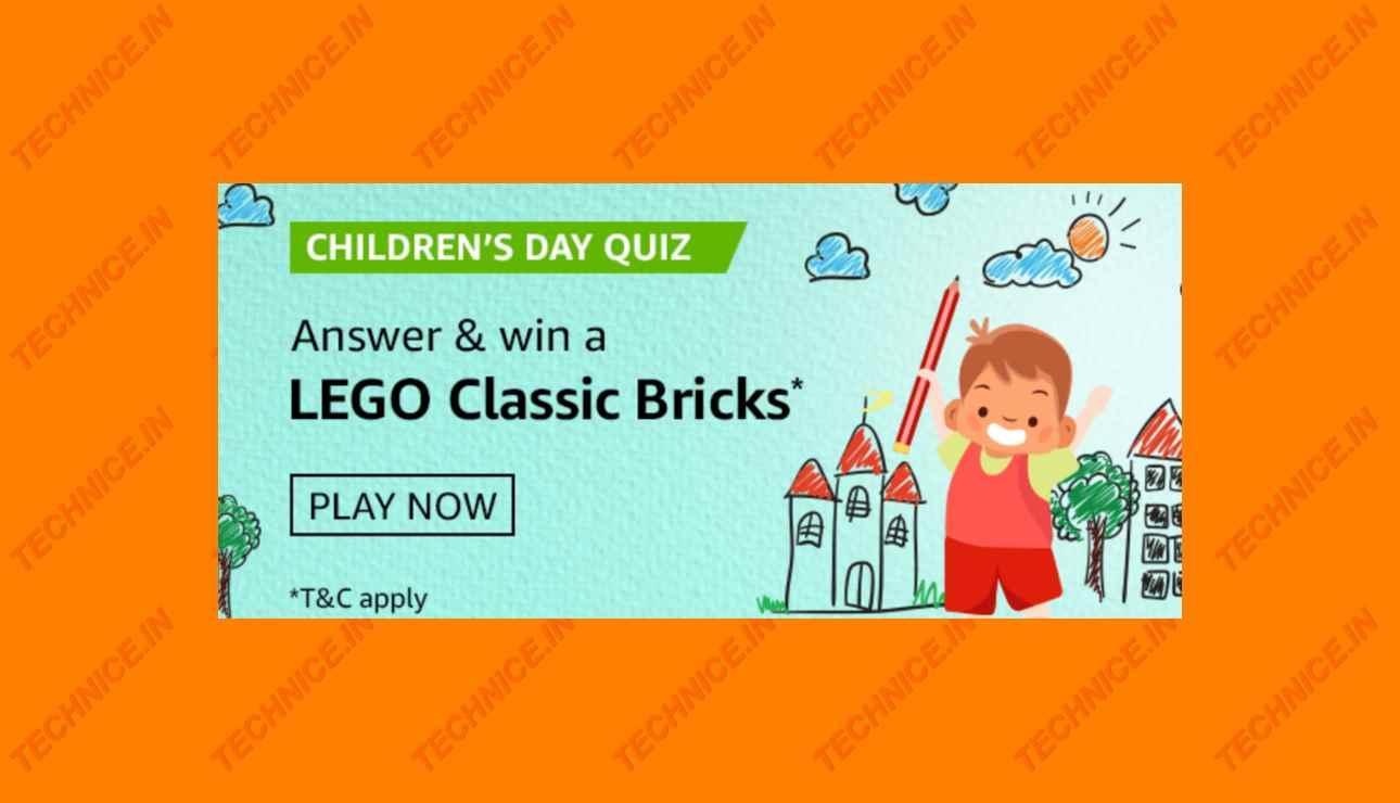 Amazon Childrens Day Quiz Answers Win LEGO Classic Bricks