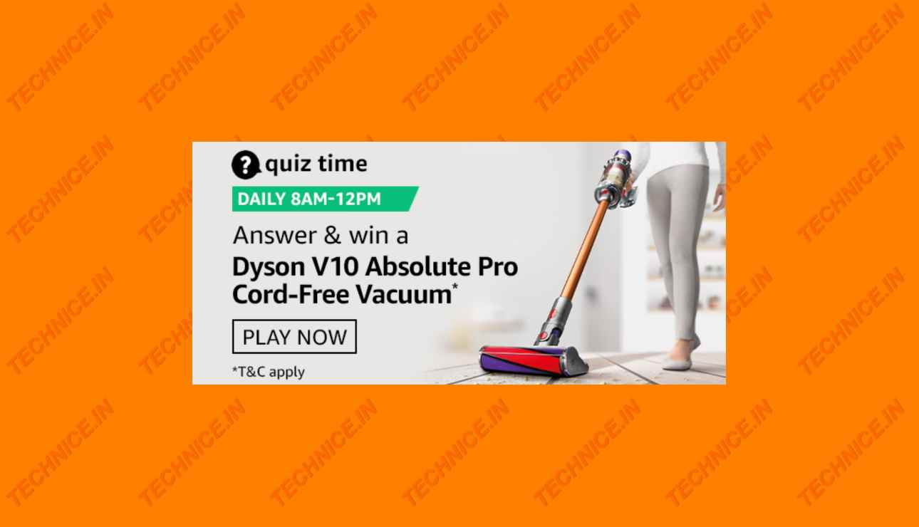 Amazon Dyson Quiz Answers Get Free Dyson Vacuum Cleaner