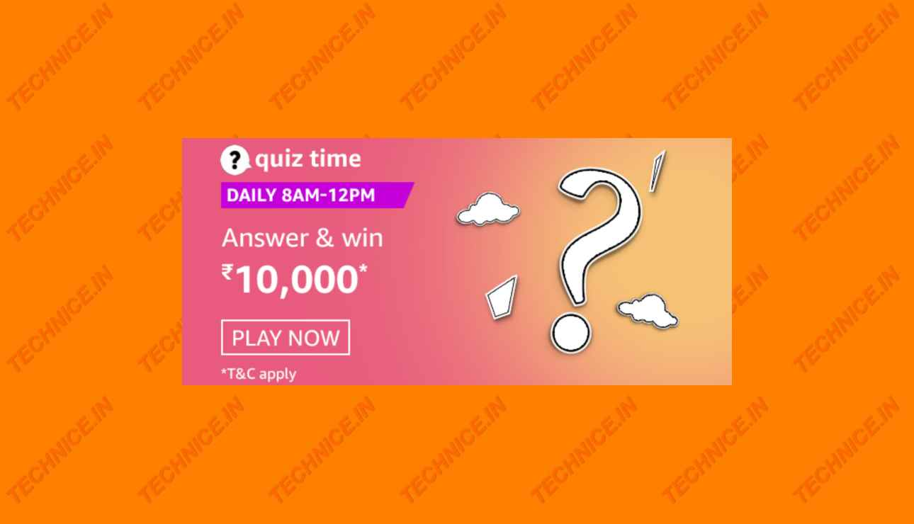 Amazon Rs 10000 Quiz Answers Win Rs 10000 Money Free
