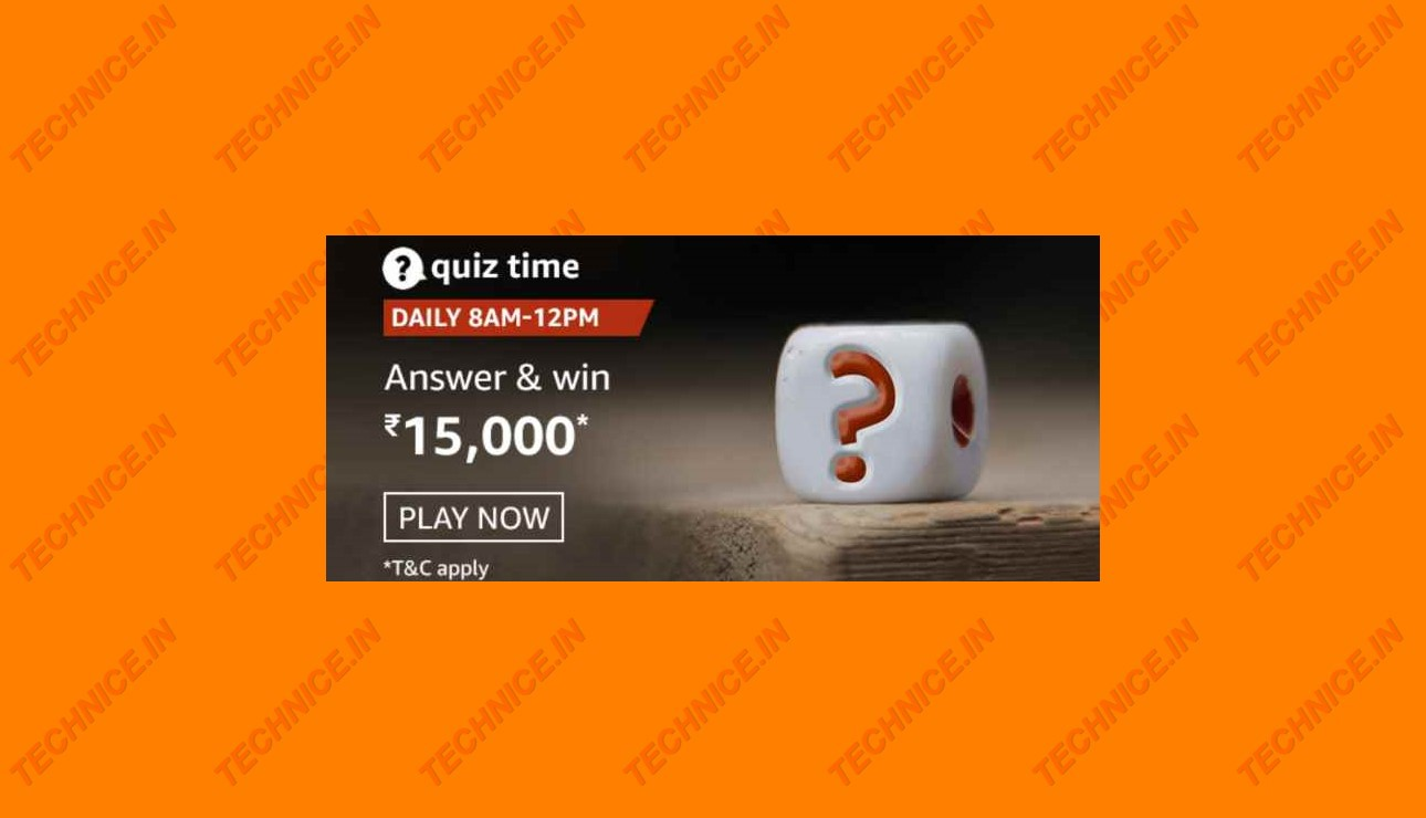 Amazon Rs 15000 Quiz Answers Win Rs 15000