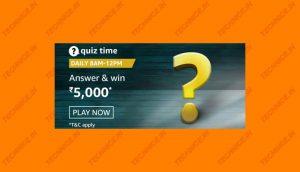 Amazon Rs 5000 Quiz Answers-3