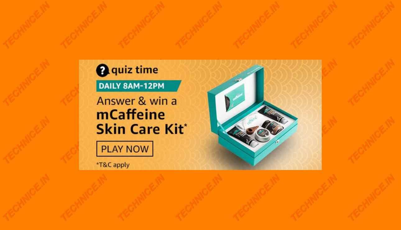 Amazon mCaffeine Quiz Answers Get Free Skin Care Kit