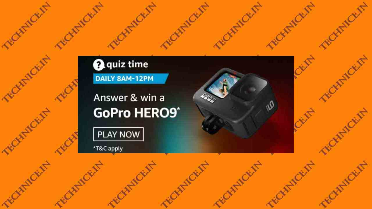 Amazon GoPro Hero9 Quiz Answers Get A Free GoPro Hero 9