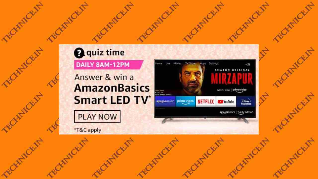 Amazon Basics Smart LED TV Quiz Answers Win Free AmazonBasics Smart TV