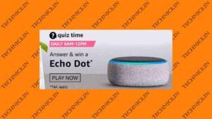 Amazon Echo Dot Quiz Answers Get A Free Echo Dot From Amazon