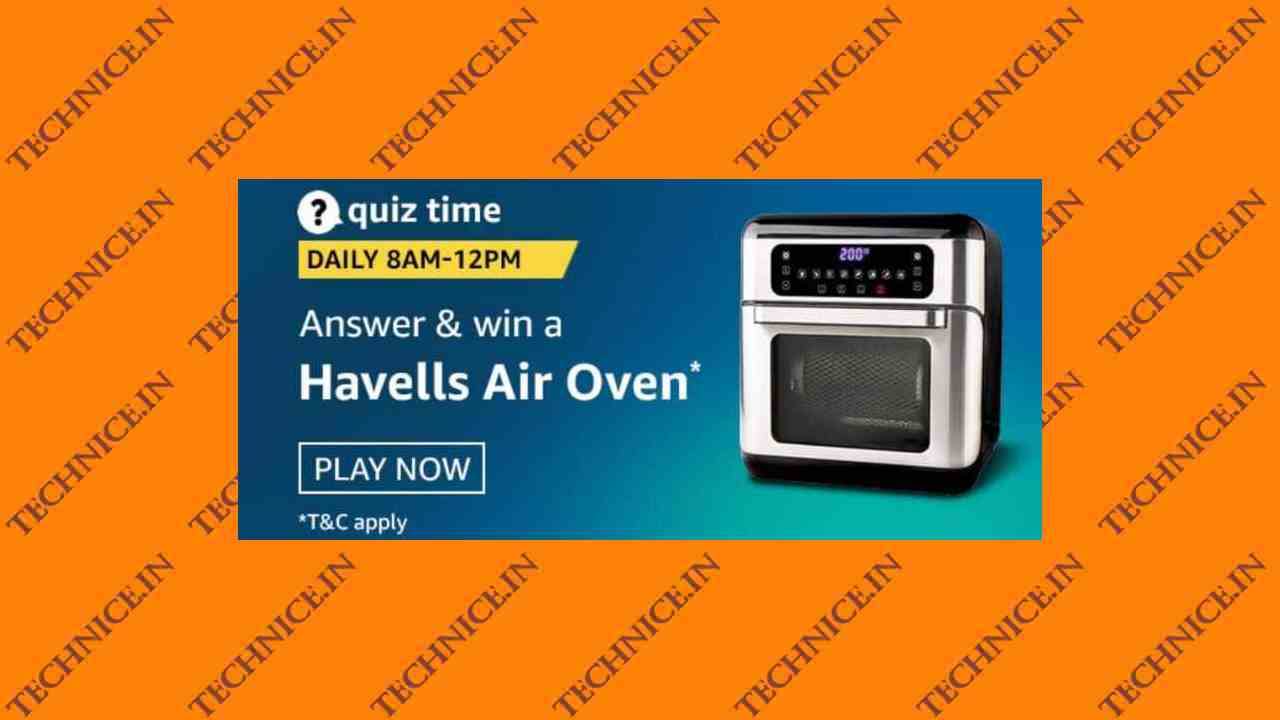 Amazon Havells Air Oven Quiz Answers 7 January 2021