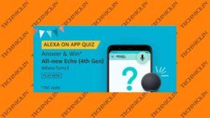 Amazon Alexa On App Quiz Answers Win All New Echo 4th Gen