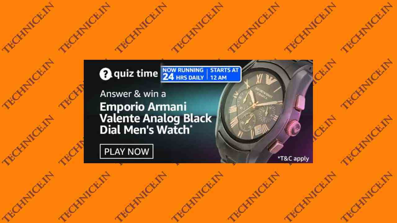 Amazon Emporio Armani Watch Quiz Answers Win Analog Watch For Men Free