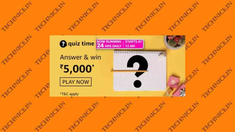 Amazon Rs 5000 Quiz Answers Get Rs 5000 Money Free
