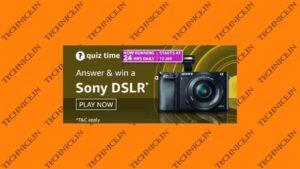 Amazon Sony DSLR Camera Quiz Answers Win Sony Alpha DSLR Camera