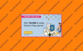 Amazon Fathers Day Quiz Answers 2021 Win Rs 20000
