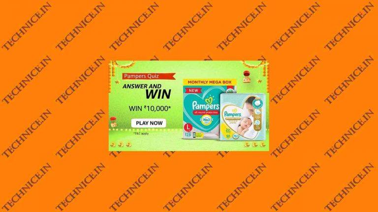 Amazon Pampers Quiz Answers Win Rs 10000 Amazon Pay Balance
